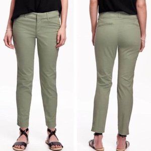 Old Navy Green Chino Pixie Pants
